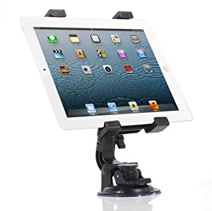 Fonus Universal 360 Degree Rotatable Windshield Car Mount Window / Desk Tablet Holder Stand Dock for AT&T Samsung Galaxy Tab SGH-I987, Sprint Apple IPad Mini, Sprint HTC EVO View 4G