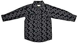 Zedd Boys' Cotton Shirt (E-C Zks1068C_22, Black, 22)