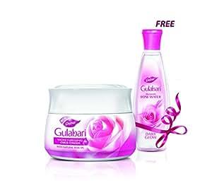 Dabur Gulabari Cold Cream, 55ml with Free Gulabari Rose water, 59ml