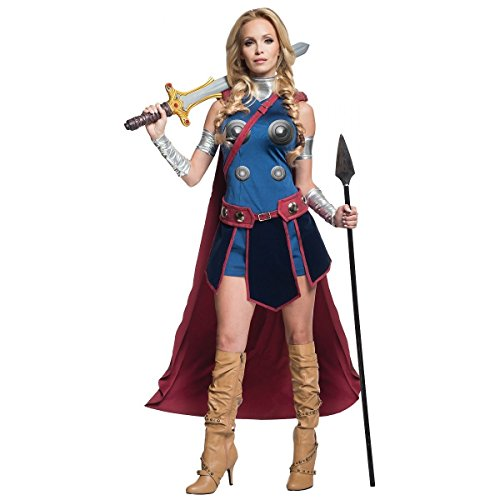 [GSG Valkyrie Costume Adult Female Thor Hero Halloween Fancy Dress] (Lady Thor Costumes)