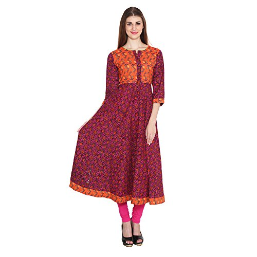 Zaristaa-Orange-Printed-Anarkali