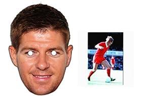"Mask Pack - Steven Gerrard Liverpool FC Face Mask - Includes 6X4"" (15X10Cm) Star Photo by Starstills UK Mask Fan Pack"