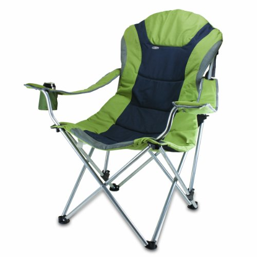 Picnic Time Portable Reclining Camp Chair, Sage/ Gray