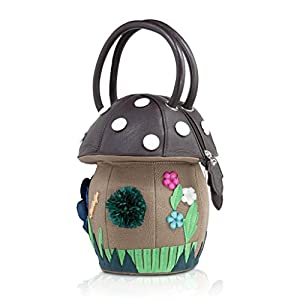 DARLING'S Amliya Mushroom Fashion Design Handbag Top-handle Bag Black