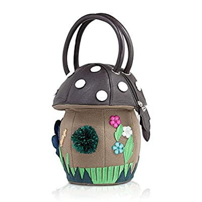 DARLING'S Amliya Mushroom Fashion Design Handbag Top-handle Bag Black
