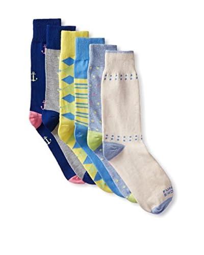 Funky Socks 30361H Men's Socks - 6 Pack, Assorted, One Size