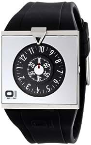 The One - AN04G01 - Spinning Wheel - Montre Homme - Quartz Analogique - Cadran Noir - Bracelet Polyuréthane Noir