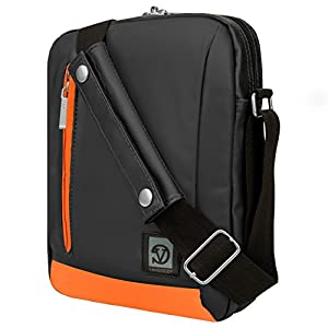 Shoulder Bag Tablet Messenger Bag Ultra-Portable Bag (Grey/Orange) For ProntoTec Axcelle 9'' 9-inch Tablet