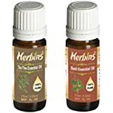 Herbins Essential Oil Combo(Tea Tree & Basil)