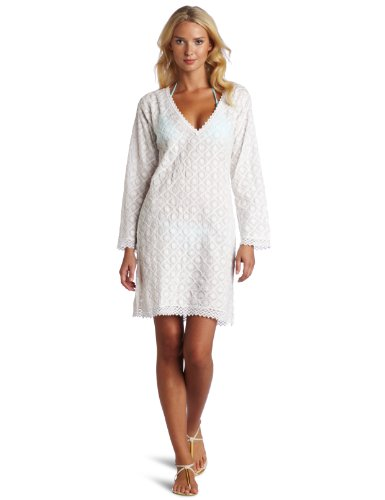 Melissa Odabash Women's Avalon Embroidered V-Neck Cover Up Top