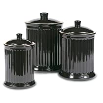 Simsbury Canisters (Set of 3) Color: Black