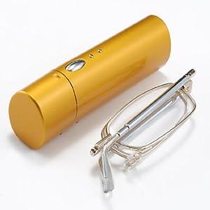 Improved Travel Folding Reading Glasses Set Foldable Eyeglasses +2.50 & Flip Top Eyewear Hard Case