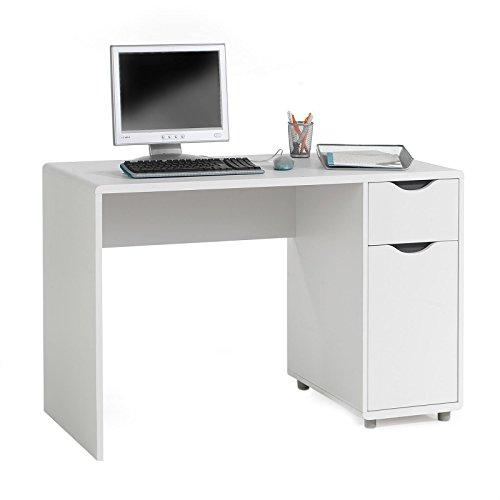 Schreibtisch-Computertisch-Kinderschreibtisch-Schlerschreibtisch-Tisch-FOX-mit-Schublade-und-Schrankfach-Spanplatte-wei-grau-foliert