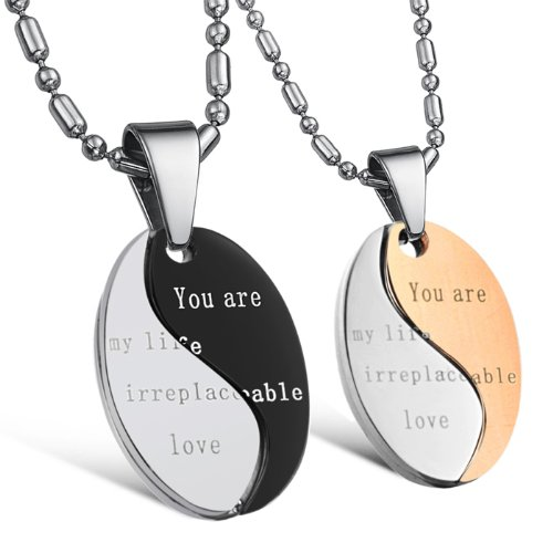 Opk Jewellery Necklaces Stainless Steel Neckwear Chains Pendants Classic Couple Necklets