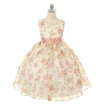 Amazon.com: Kids Dream Girls Organza Floral Special Occasion Dress