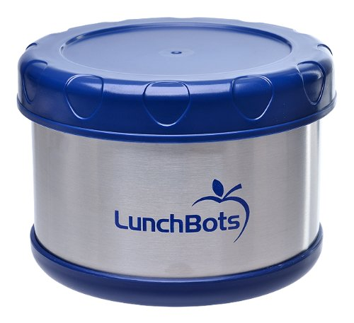 LunchBots Thermal 16 oz. All Stainless Steel Interior - Insulated Food Container Stays Warm for  up to 5 Hours or Cold for 10 Hours - Leak Proof Soup Jar for Portable Convenience - Blue (Insulated Containers For Food compare prices)
