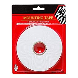 3 Pack Double Stick Foam Mounting Tape .75in x 5.5yd x 2mm