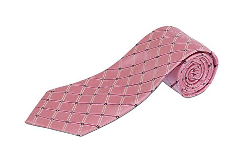 Extra Long Pink Diamond Silk Tie (63 Inches) (Pink Extra Long Ties compare prices)