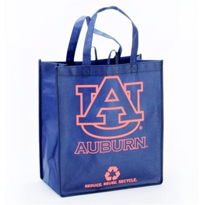 Auburn Tigers Navy Blue Reusable Tote Bag