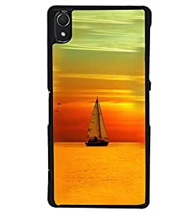 Printvisa Boat Sailing At Sunset Scenery Back Case Cover for Sony Xperia Z2::Sony Xperia Z2 L50W D6502 D6503