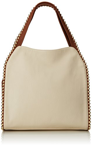 BIG BUDDHA Grayson Shoulder Bag, Bone, One Size