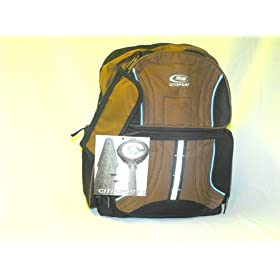 CITISPORT Multipocket Padded Backpack Brown on Black
