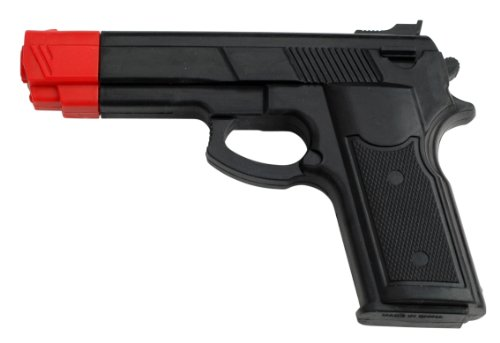BladesUSA Rubber Training Gun Black and Red Head Painting (Prop Gun compare prices)