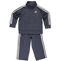 adidas Little Boys\' Iconic Tricot Set, Mercury Grey, 7X