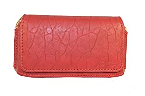 Totta Pu Leather Hand Pouch For Infocus Bingo 21, Red