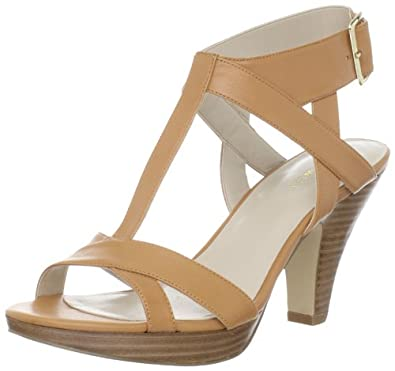 Nine West Women's Jumparound T-Strap Sandal,Natural,10 M US