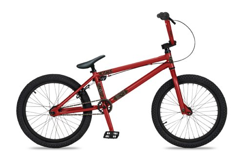 Dk Cygnus Bmx Bike With Black Rims (Red, 20-Inch)