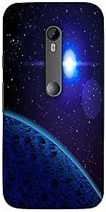 Snoogg Blue Planet Designer Protective Back Case Cover For Motorola G 3Rd Gen...