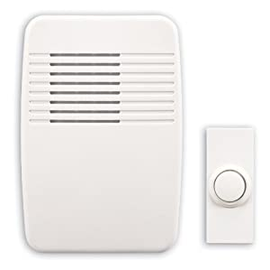 Heath/Zenith SL-6166-C Wireless Plug-In Door Chime Kit with Molded Plastic Cover, White