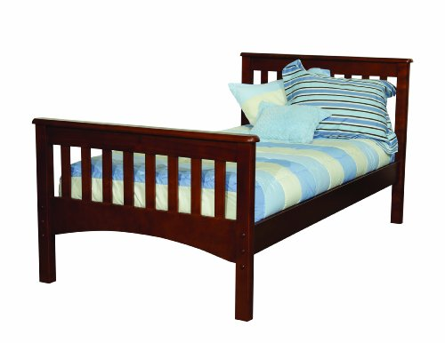 Bolton 9921700 mission bed twin chestnut best deals toys Best deal on twin mattress