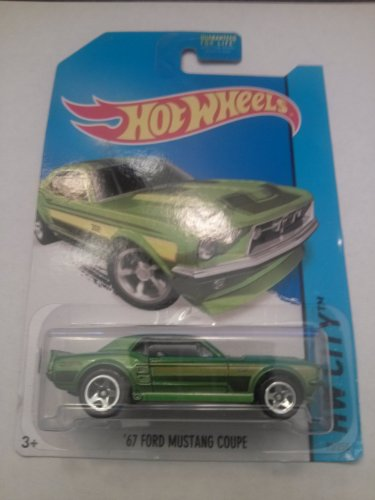 Hot Wheels City '67 Ford Mustang Coupe Green 93/250 - 1