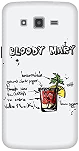 The Racoon Grip Silver Bloody Mary hard plastic printed back case / cover for Samsung Galaxy Grand 2