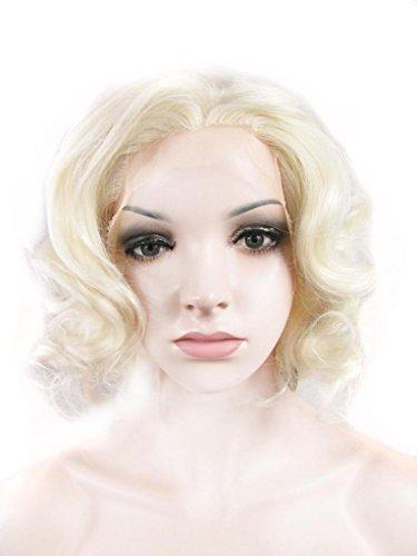 imstyle kunsthaar modische bleach blonde farbe kurze bob culry marilyn monroe frisur. Black Bedroom Furniture Sets. Home Design Ideas