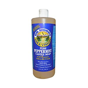 Dr. Woods - Shea Vision Castile Soap With Organic Shea Butter Pure Peppermint - 32 oz.