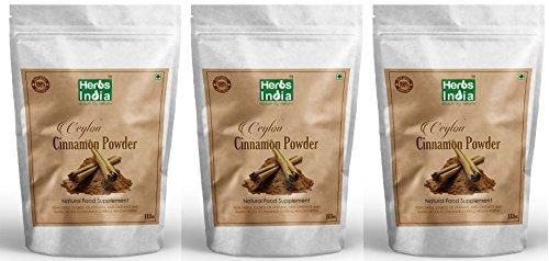 Cinnamon Powder. 100% Premium Ceylon Cinnamon. (3 Pound - 48 Oz) - Herbs India