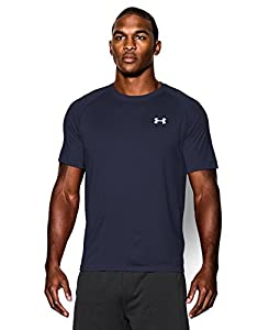 Men's UA TechTM Shortsleeve T-Shirt Tops by Under Armour (Midnight Navy/white, X-Large)