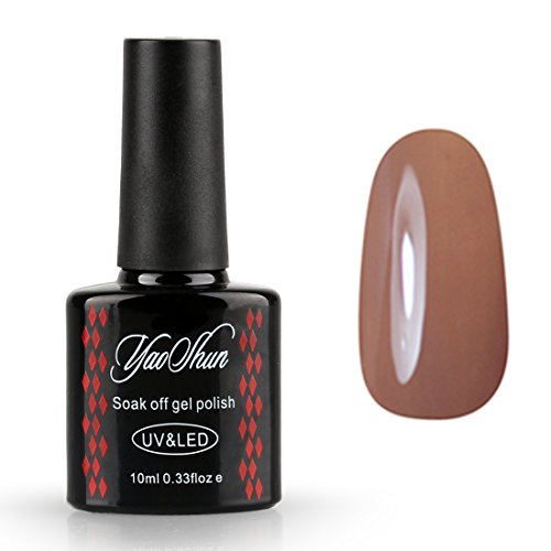 Yaoshun-UV-LED-Gel-Nail-Polish-Soak-Off-Lacquer-Brown-Color-Varnish-Nail-Art-Manicure-10ml-048