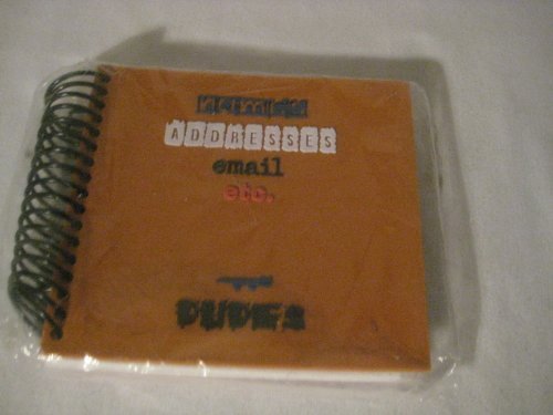 Orange Dudes Address Book By Penny Laine Papers (Ad301)