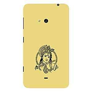 Skin4gadgets Lord Krishna - Line Sketch on English Pastel Color-Khakhi Color Phone Skin for LUMIA 625