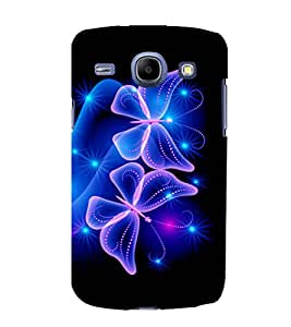 printtech Butterfly Starry Sparkling Back Case Cover for Samsung Galaxy J2 / Samsung Galaxy J2 J200F