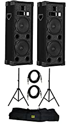 VM Audio VAS4210P 2200W 4-Way Dual 10\