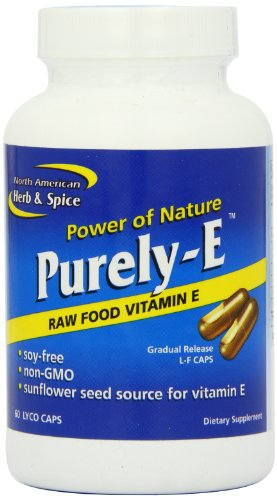 North American Herb and Spice, Purely-e Gel-Capsules, 60-Count (Red Palm Oil Capsules compare prices)