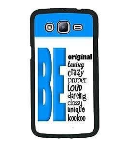 PrintVisa Metal Printed Quotes Designer Back Case Cover for Samsung Galaxy J5-D4868