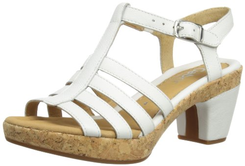 Gabor Women's Impression Leather White Ankle Strap 2.733.50 3 UK