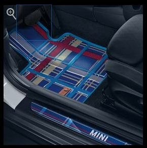 Amazon Com Mini Speedwell Blue All Weather Floor Mats