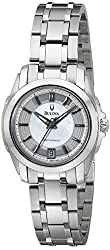 Bulova Women's 96M108 Precisionist Longwood MOP Dial Steel Bracelet Watch